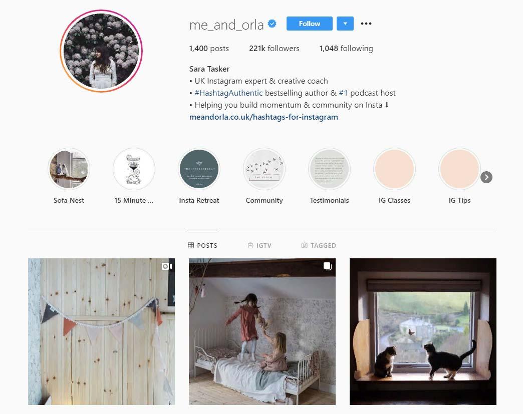 me_and_orla Instagram account screenshot